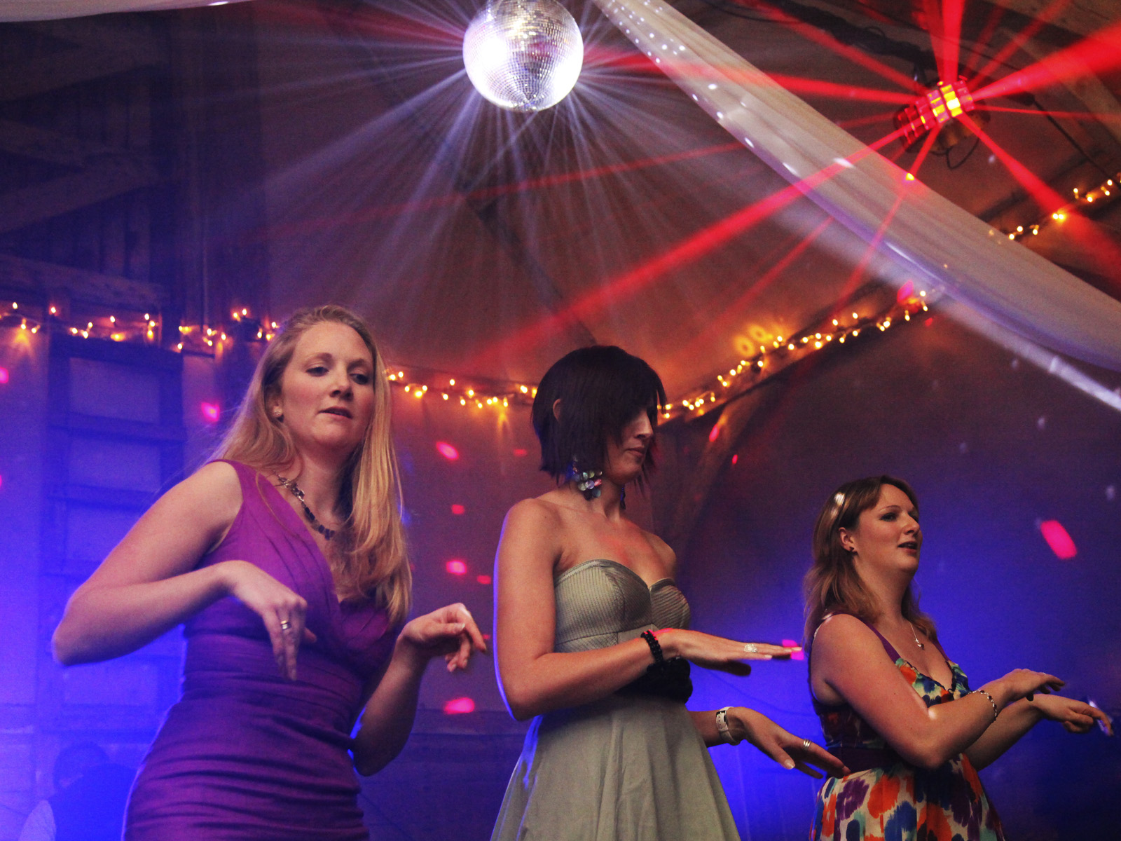 Dancers At A Wedding Disco